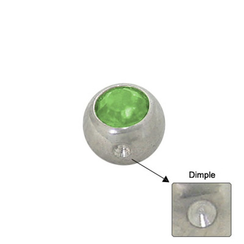 Jeweled Replacement Dimple Bead Surgical Steel -3