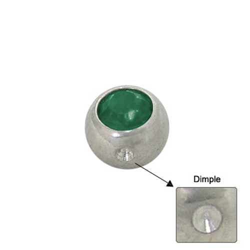 Jeweled Replacement Dimple Bead Surgical Steel-4