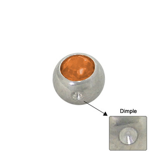Jeweled Replacement Dimple Bead Surgical Steel -4