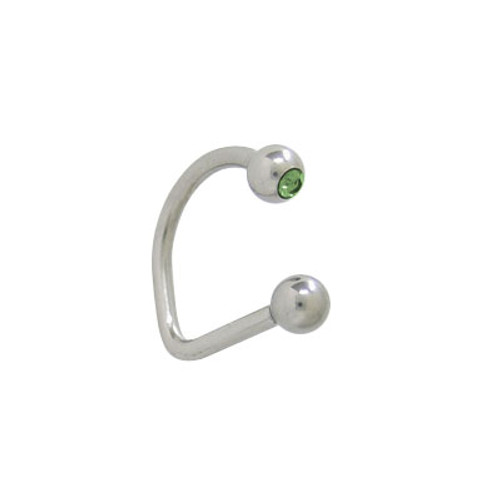 Lippy Loop Jeweled Labret Surgical Steel-2
