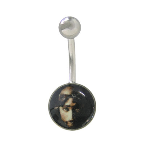 2Pac Belly Button Ring Surgical Steel Flat Head Design -1