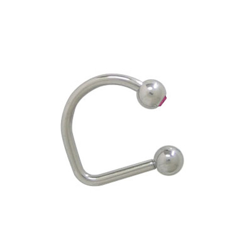 Lippy Loop Jeweled Labret Surgical Steel-3