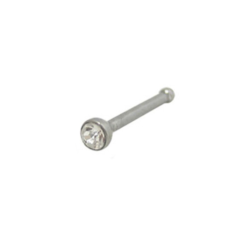 Nose Bone 316L Surgical Steel with Jewel-1