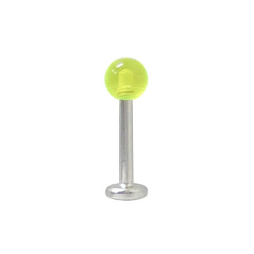 Labret Monroe Surgical Steel with UV Acrylic Bead -5