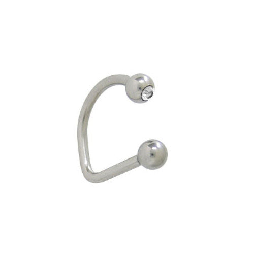 Lippy Loop Jeweled Labret Surgical Steel -3