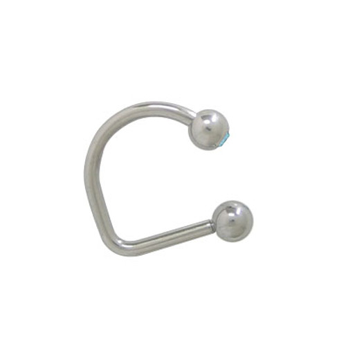 Lippy Loop Jeweled Labret Surgical Steel -4