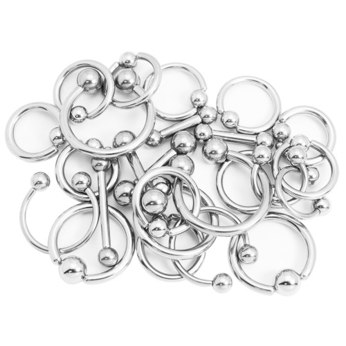 Assorted Big Gauge Body Jewelry 50 Pieces