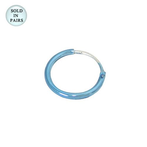 Sterling Silver Hoop Earrings (10mm)-1