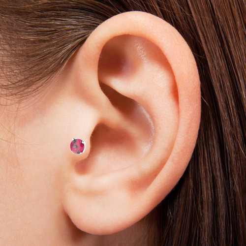 Surgical Steel Jeweled Labret Tragus Earring -1