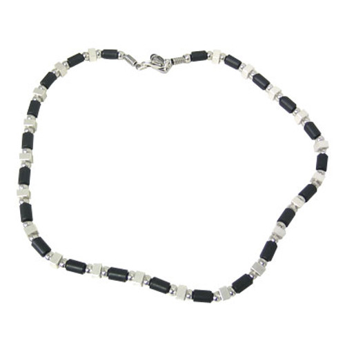 Silver Plated Necklace with Mix Beads-3