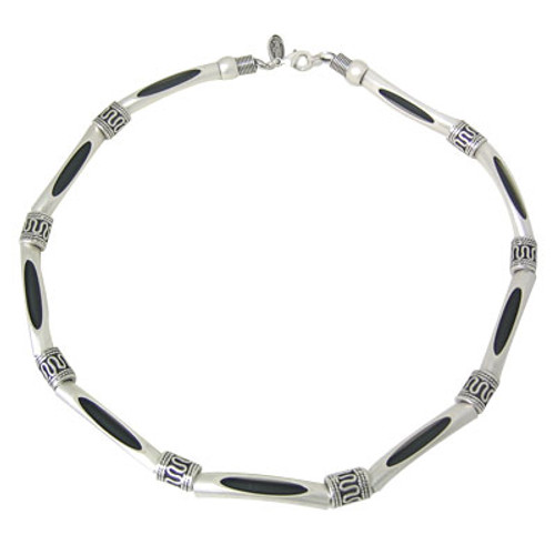 Silver Plated Necklace with Mix Beads-4
