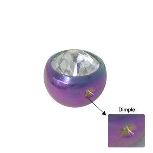Titanium Jeweled Replacement Dimple Bead-3