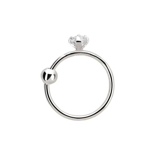 Nose hoop ring 14 karat solid white gold