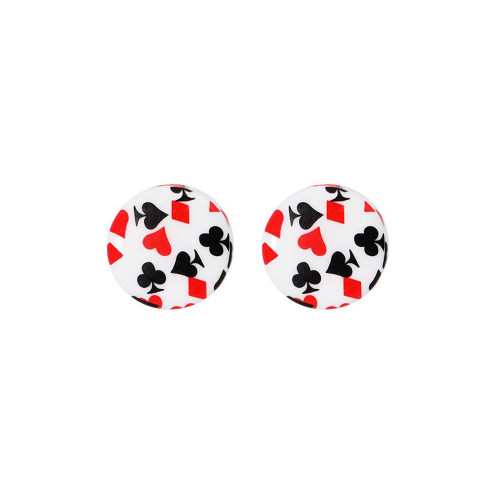 Ear Plugs playing cards design Saddle plugs sold as a pair