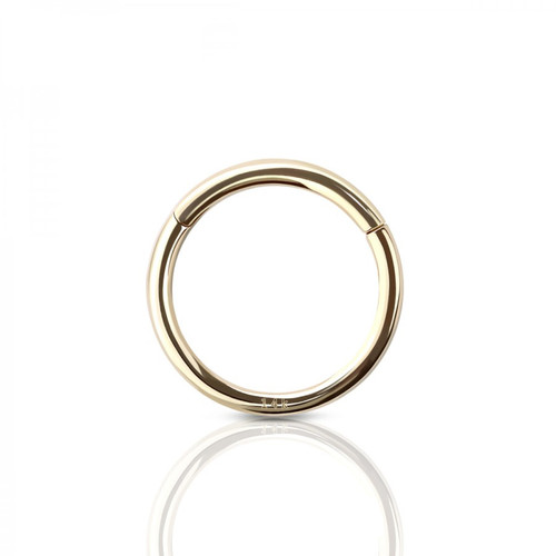 Hinged Ring 14 Karat Solid Gold Fit almost every piercing good for Nose Ear and More
