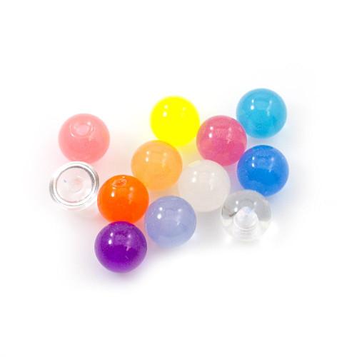 Acrylic Replacement 6 mm Balls 14G- 12pcs- No Duplicates