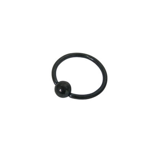 Anodized Black Titanium Captive Bead Ball Closure Ring (16 G)