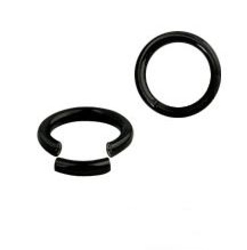 Anodized Titanium Over Surgical Steel Segment Ring (14 & 16 Gauge)