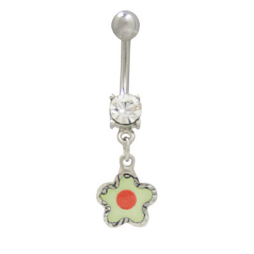 14 gauge Belly Button Ring  surgical steel with pastel dangle design