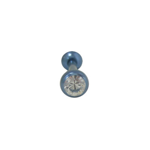 Body jewelry Titanium with jewel, Barbell Tongue ring