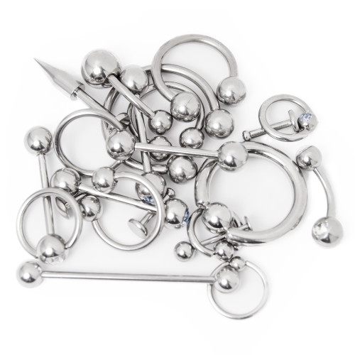 Mixed Body Jewelry Pack - 20 Pcs. Mixed Gauges and Lengths