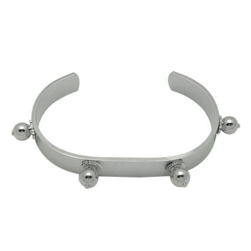 Basic Steel Bracelet with Ball Spikes