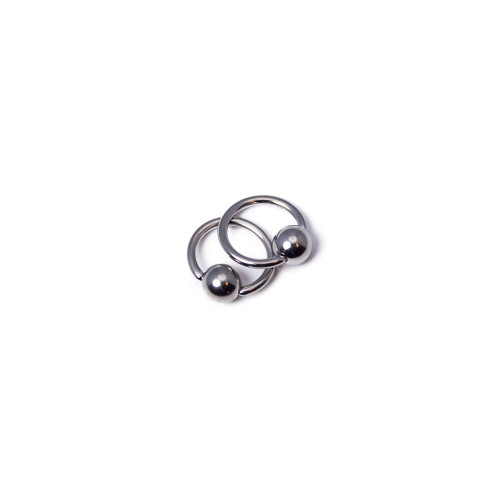 """Micro-Sized Captive Bead Ring 18ga-9/32""""(7mm) - Made of 316L Sugical Steel - Sold as Pair"""