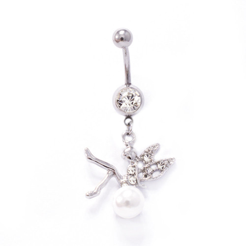 Fairy Design Dangle 14ga Belly Button Ring - Out of Stock