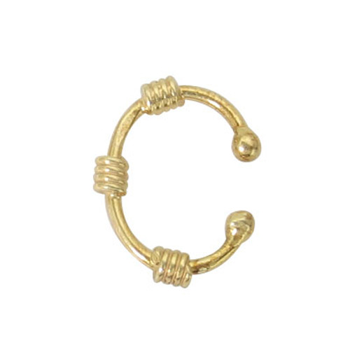 Triple Coil Gold Plated Belly Button Hoop