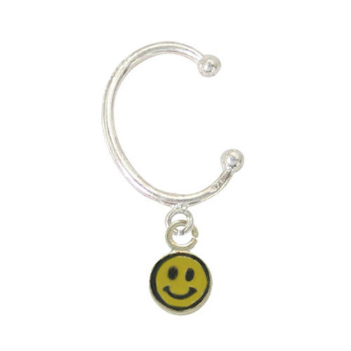 Belly Button Hoop with Happy Face Charm