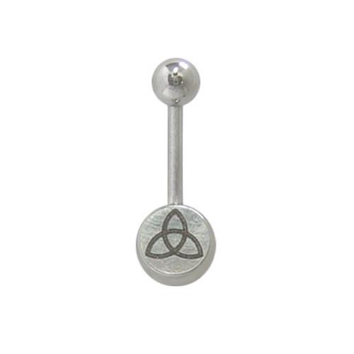 14 gauge Belly Button Ring Surgical Steel Flower Design