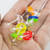 Pack of 8 Clear Bio-Flex Tongue Straight Barbells and Assorted Color Acrylic Doughnuts with  14ga 5/8-16mm