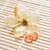 Pair of Rhodium Plated Orange Non-Piercing Spring Hoop