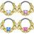 Lace Design 16GA Septum Clicker with Opalite Gem