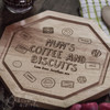 Personalised - Coffee and Biscuits Board - The Crafty Giraffe