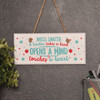 Personalised A teacher takes a childs hand Sign - The Crafty Giraffe