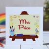 Personalised Art Easel Card