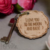 Personalised Moon Keyring