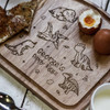 Buy Personalised Breakfast Egg Board - Dinosaurs From The Crafty Giraffe, the home of unique and affordable gifts for loved ones...