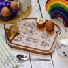 Personalised Breakfast Egg Board - Dinosaurs - The Crafty Giraffe