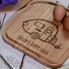 Personalised Breakfast Egg Board - Caravan - The Crafty Giraffe