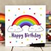 Rainbow Birthday Card - The Crafty Giraffe