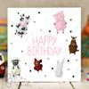Farm Animals Birthday Card