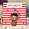 Pirate Girl Birthday Card - The Crafty Giraffe