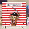 Pirate Girl Birthday Card