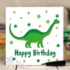 Green Dinosaur Birthday Card