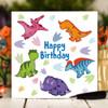 Dinosaur Birthday Card - The Crafty Giraffe