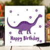 Purple Dinosaur Birthday Card - The Crafty Giraffe