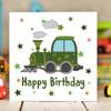 Train Birthday Card - The Crafty Giraffe