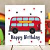 Bus Birthday Card - The Crafty Giraffe